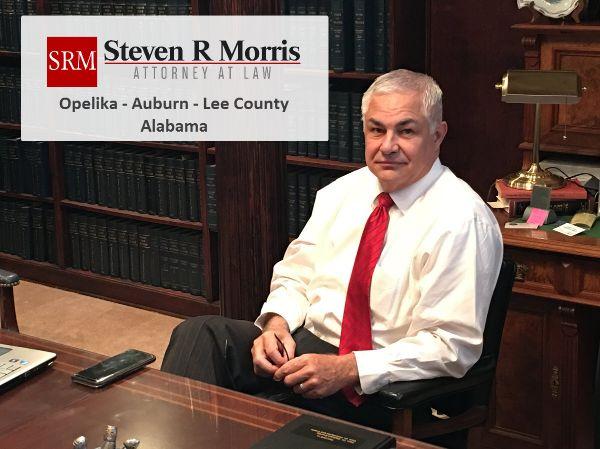 Steve Morris in Opelika law office